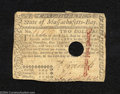 Colonial Notes:Massachusetts, May 5, 1780, $2, Massachusetts, MA-279, Fine, COC. The ...