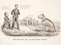 """Political:Posters & Broadsides (pre-1896), Abraham Lincoln: """"The Old Bull Dog on the Right Track"""" Currier & Ives...."""