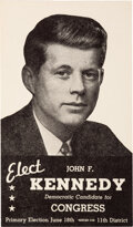 Political:Small Paper (1896-present), John F. Kennedy: 1946 Kennedy for Congress Card....