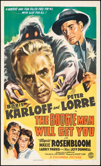 """The Boogie Man Will Get You (Columbia, 1942). Folded, Fine+. One Sheet (27"""" X 41""""). Horror"""