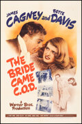 """Movie Posters:Comedy, The Bride Came C.O.D. (Warner Bros., 1941). Folded, Very Fine-. One Sheet (27"""" X 41""""). Comedy.. ..."""