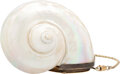 """Luxury Accessories:Bags, Judith Leiber Natural Shell Minaudière. Condition: 3. 4"""" Width x 3"""" Height x 3"""" Depth. ....."""
