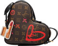 """Luxury Accessories:Bags, Louis Vuitton Limited Edition Monogram Coated Canvas Sac Coeur Heart Bag. Condition: 1. 9"""" Width x 8"""" Height x 3"""" Dept..."""