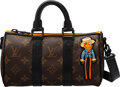 """Luxury Accessories:Bags, Louis Vuitton Limited Edition Monogram Coated Canvas Scarecrow Keepall XS Bag. Condition: 1. 8.5"""" W..."""