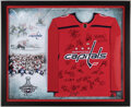 Autographs:Jerseys, 2018 Washington Capitals Signed Jersey Display - Stanley Cup Champions!...