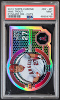 Baseball Cards:Singles (1970-Now), 2013 Topps Chrome Dynamic Die-Cuts Mike Trout #DY-MT PSA Mint 9. ...