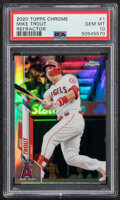 Baseball Cards:Singles (1970-Now), 2020 Topps Chrome Mike Trout (Refractor) #1 PSA Gem Mint 10. ...