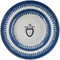 Political:Presidential Relics, Thomas Jefferson: Chinese Export Bowl with Family Crest....