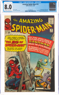 The Amazing Spider-Man #18 (Marvel, 1964) CGC VF 8.0 Off-white to white pages