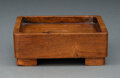 Carvings, Alexandre Noll (French, 1890-1970). Carved Tray. Rosewood. 1-3/4 x 5 x 5-1/4 inches (4.4 x 12.7 x 13.3 cm). Signed to ba...