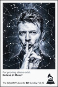 """Movie Posters:Rock and Roll, 59th Annual Grammy Awards: David Bowie (CBS, 2017). Rolled, Very Fine+. New York Bus Shelter (48"""" X 72"""") Advance. Rock and R..."""