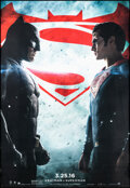 """Movie Posters:Action, Batman V Superman: Dawn of Justice (Warner Bros., 2016). Rolled, Very Fine+. Bus Shelter (48"""" X 70"""") Advance. Action.. ..."""