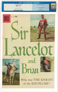 Four Color #775 Sir Lancelot (Dell, 1957) CGC NM+ 9.6 Cream to off-white pages