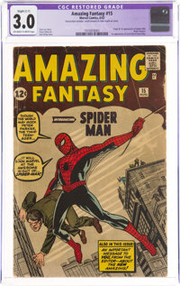 Amazing Fantasy #15 (Marvel, 1962) CGC Apparent GD/VG 3.0 Slight (C-1) Off-white to white pages
