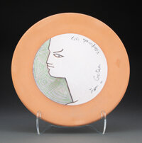 Jean Cocteau (French, 1889-1963) Béatrice, 1957 Earthenware 12 x 12 x 1 inches (30.5 x 30.5 x 2.5 cm) Ed. 19/25 S...