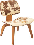 Furniture, Charles Eames (American, 1907-1978) and Ray Kaiser Eames (American, 1912-1988). LCW, circa 1950. Plywood, cow hide. 26-3...