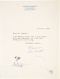 Autographs:Artists, Norman Rockwell Typed Letter Signed with Sketch. ...