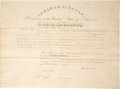 Autographs:U.S. Presidents, Abraham Lincoln Appointment Signed. ...