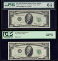 Small Size:Federal Reserve Notes, Fr. 2010-A; B $10 1950 Narrow Federal Reserve Notes. PMG Choice Uncirculated 64 EPQ; PCGS Very Choice New 64PPQ.. ... (Total: 2 notes)