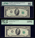 Small Size:Federal Reserve Notes, Fr. 2013-A; B* $10 1950C Federal Reserve Notes. PMG Gem Uncirculated 66 EPQ; PCGS Very Choice New 64PPQ.. ... (Total: 2 notes)