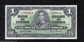 Canadian Currency: , BC-21c $1 1937 Fine-Very Fine. This $1 is of the wide ...