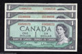 Canadian Currency: , Three Modified Portrait $1s.