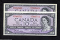 Canadian Currency: , Two $10 Modified Portraits.