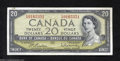 Canadian Currency: , BC-41b $20 1954 Very Fine. There is a tiny edge tear on ...