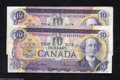 Canadian Currency: , Two 1971 $10s.