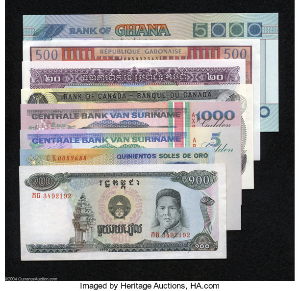 World Currency Eight Note Wide Tour