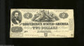 Confederate Notes:1862 Issues, T42 $2 1862. This $2 is absent of pinholes and it has ...