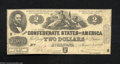 Confederate Notes:1862 Issues, T42 $2 1862. A problem-free Very Good-Fine note with ...