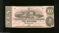 Confederate Notes:1862 Issues, T52 $10 1862. Even wear and a pinhole are found on this $...