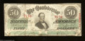 Confederate Notes:1863 Issues, T57 $50 1863. Criswell number 413 and another number are ...
