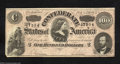 Confederate Notes:1864 Issues, T65 $100 1864. Several light folds dwell on this note.