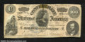Confederate Notes:1864 Issues, T65 $100 1864. A long center tear has been repaired with ...