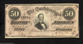 Confederate Notes:1864 Issues, T66 $50 1864. This pristine $50 could have left the ...