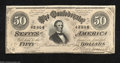 Confederate Notes:1864 Issues, T66 $50 1864. This Jeff Davis $50 saw far less handling ...