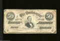 Confederate Notes:1864 Issues, T66 $50 1864. This crisp 4 Series $50 has some edge ...