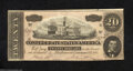 Confederate Notes:1864 Issues, T67 $20 1864. This is the variety with Series 2 in a small ...