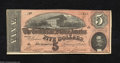 Confederate Notes:1864 Issues, T69 $5 1864. This Series 6 $5 has a nice red undertint.