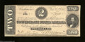 Confederate Notes:1864 Issues, T70 $2 1864. The top margin is along the frame line on ...