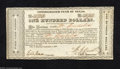 Miscellaneous:Republic of Texas Notes, 1837 $100 Consolidated Fund of Texas, Cr-CF1, CU. You may bid o...