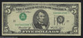 Error Notes:Inverted Third Printings, Fr. 1973-L $5 1974 Federal Reserve Note. Fine-Very Fine. ...