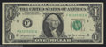Error Notes:Ink Smears, Fr. 1905-F $1 1969-B Federal Reserve Note. Very Fine. This ...