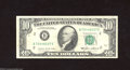 Error Notes:Ink Smears, Fr. 2027-B $10 1985 Federal Reserve Note. Very Fine. A ...