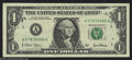 Error Notes:Major Errors, Fr. 1926-A $1 2001 Federal Reserve Note. Very Fine-Extremely ...