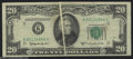 Error Notes:Major Errors, Fr. 2063-K $20 1950-D Federal Reserve Note. Very Fine. A ...