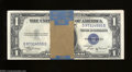 Small Size:Silver Certificates, Fr. 1611 $1 1935B Silver Certificates. Forty-three Examples. ... (48 notes)