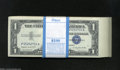 Small Size:Silver Certificates, Fr. 1620 $1 1957A Silver Certificates. 100 Consecutive ... (100 notes)